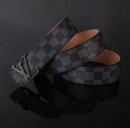 Wholesale Brand designer l v buckle belt men fashion mens gg belts luxury high quality belts for men genuine leather men ff belts