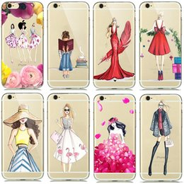 Cases For Apple iPhone 5S SE 6 6S Plus 7 Plus A Girl Summer Outing Travel Relax Beach Transparent Soft Silicone Phone Case