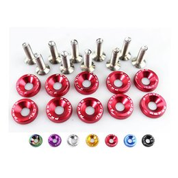 Wholesale 10pcs Pack JDM Style Aluminum Fender Washers And bolt For Honda Civic Integra RSX EK EG DC RS QRF002