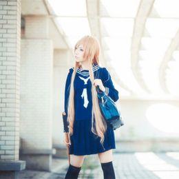 Aisaka Taiga cosplay costumes uniform Japanese anime Toradora clothing Masquerade Mardi Gras Carnival costumes blue