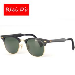 2017 meilleures lunettes de soleil gros Vente en gros- RLEI DI Meilleure qualité rétro Gade lunettes de soleil hommes de verre des femmes en verre de verre de verre UV400 de protection de mode lunettes de soleil de voyage meilleures lunettes de soleil gros offres