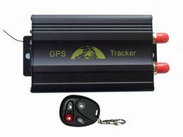 Wholesale Quad band TK103B Vehicle GPS tracker Remote Control SD card GPS B PC web based GPS racking system SOS