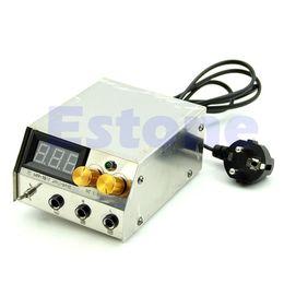 Wholesale Stainless Steel Professional LCD Dual Digital Tattoo Machine Power Supply EU plug