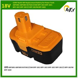 Wholesale 18V Replacement power tool Battery for Ryobi Cordless Drill Nailer Tool ABP1801 battery