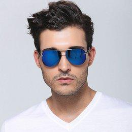 2017 espejo de cristal clásico Gafas de sol clásicas de los hombres de Pilot Gafas de sol de los hombres sin cordón Vidrio de sol Vidrios polarizados masculinos Eyewear Mirror len Eyewear económico espejo de cristal clásico