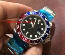 Cerámica blanca reloj de pulsera en venta-Reloj de pulsera de lujo 2836 Movimiento NUEVO 116719 BLRO Reloj mecánico de oro blanco azul de la bisel 18K de los relojes de los hombres mecánicos de la tapa de calidad superior