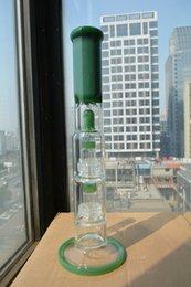 2016 crdp de verre Verre épais Bongs tuyaux en verre d'eau de smokingbong grand nice vert hookah haute qualité multi-percs solide base crdp de verre sortie