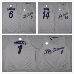 Wholesale 2017 the latest edition of the shirts Christmas version Clarkson Brandon Ingram D Angelo Russell embroidery shirt