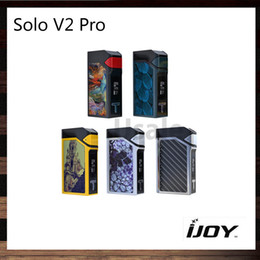 Wholesale IJoy Solo V2 Modem Pro W TC Mod Mod Firmware Upgradeable Modules Cool Interchangeables Best Match ELF Tank Original