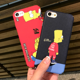 Wholesale For iPhone S Plus iPhone7Plus Phone Case Apple Phone Case Back Cover Simpson Animated Matte All Pack Cell Phone Hard Case Universal