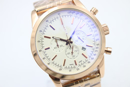 Wholesale Recommended automatic colt movement rose gold watchband Christmas gift b01 high quality white dial luxury men s watch bag mail