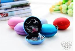 Promotion porter coloré Colorful Canvas Zipper Sac Ecouteur Câble Mini Boîte Carte SD Portable Porte-monnaie Sac Sac Casque Porter Sac Poubelle Case Cover Stockage