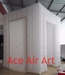 High quality Cheap inflatable photo booth backgrounds with 2 doors and curtains( No lights),foto booth,cube kiosk on discount