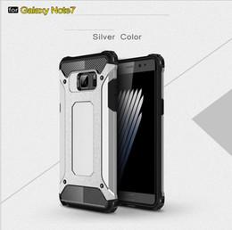 Protection téléphone cellulaire à vendre-Pour plus Samsung Galaxy Note 7 S7 boîtier de bord 6 6S Samsung Galaxy Note 7 bord S7 Acier blindage TPU PC housse de protection pour téléphone cellulaire