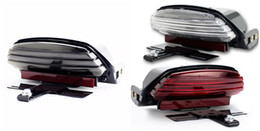 3 Color Tri-Bar Fender LED Tail Light + Bracket for Harley Softail FXSTC 2006-11