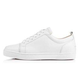 Франция человек для продажи-Роскошная дизайнерская обувь из красного кроссовки Кожаные ботинки для мужчин / женщин