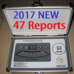 Wholesale 2017 New th Generation Reports Core Quantum Magnetic Resonance Analyzer with Comparative Report English Spanish Amway DHL Free