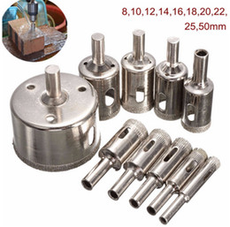 Wholesale New Arrival set mm Diamond Coated Core Hole Saw Drill Bits Hand Tool Cutter For Tiles Marble Glass Granite