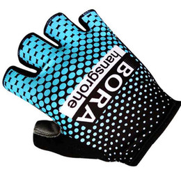 Men's 2017 Tour De France Cycling Team NIPPO ITALIA ASTANA LOTTO BORA Gloves Half Finger Unisex Outdoor Sports Racing bike MTB