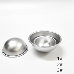 Wholesale by DHL or EMS D Aluminum Alloy Ball Sphere Bath Bomb Mold Cake Baking Pastry Mould