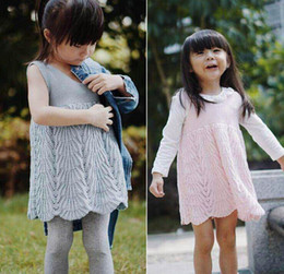 Wholesale 2017 Spring New Baby Girl Dresses Knitted Cotton Sleeveless Dress Children Clothing Y Only Include Dress