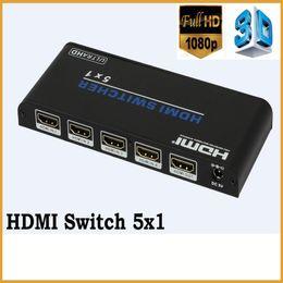 2016 convertisseurs vidéo Commutateur de HDMI de 5 ports de Wholesale-1080P avec l'audio à télécommande 5X1 4K * 2K HDMI HDMI Convertisseur de HDMI Convertisseur Support HDMI 2.0 HDCP DVI1.0 peu coûteux convertisseurs vidéo