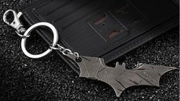 Wholesale-The Avengers Marvels Super Hero Batman Bruce Wayne Keychain Pendant Key Chain Metal Keychains Key Ring Free Shipping