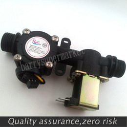Wholesale Water flow meter sensor indicator counter with Solenoid Valve automatic billing system for Water heaters water dispenser G1