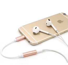 Wholesale 3 mm headphone DC jack adapter for iPhone7 plus headset converter extended audio cable cm length colors option cheap price