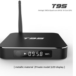 2017Best selling T95 Android Amlogic S905X tv box Quad Core 1GB+8GB KD17.1 fully loaded Android6.0 4K streaming media player LED Display