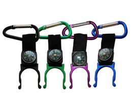 Promotion bouteilles d'eau mousqueton Porte-clés en acier inoxydable Mousqueton en alpinisme en aluminium avec boussole Chaussure d'alpinisme en plein air Bouteille bouteille d'eau en plein air