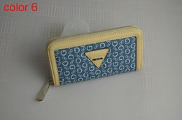 Wholesale fashion women PU leather wallet long zipper purse European style new arrival color1