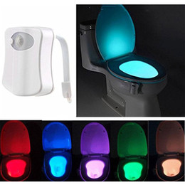 Wholesale Multi Colors Changing Motion Activated Lights Sensitive Automatic LED Toilet Nightlight Motion Sensor Bathroom Lamp for Any Toilet
