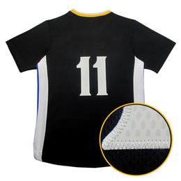 Descuento camiseta para correr verde La camisa corriente cosida doble negra del negro del oro blanco de Klay Draymond Green del amarillo del bordado del jersey de los hombres libera el envío