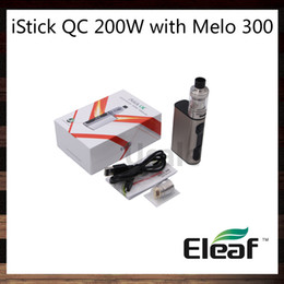 Wholesale Eleaf iStick QC W with MELO Kit With mah Power Bank Firmware Upgradable ml Melo Tank Top Fill System Original