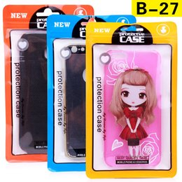 Wholesale Planstic Packaging Bag Phone Case for iPhone 7 7 Plus Universal Zipper Lock Bag for iPhone 5 6 6 Plus Packing