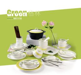 China réglé 56 en Ligne-Ménage vaisselle en porcelaine en osier bols bols bols baguettes ensemble fleurs de bande dessinée 56 grande correspondance