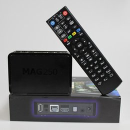 Wholesale Linux System MAG250 MAG R14 Version Stability Confirmed by IPTV providers in Countries Iptv Box Set top Boxes Free DHL