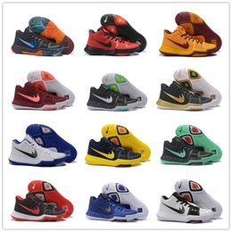 Wholesale 2016 New Arrival Kyrie Irving Signature Game Basketball Shoes for Top quality Men s Sports Training Sneakers Size