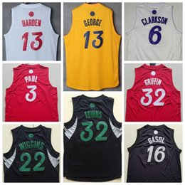 Wholesale 2017 Christmas Jersey Xmas Day Shirt Karl Anthony Towns Paul George Chris Paul Blake Griffin Clarkson Andrew Wiggins