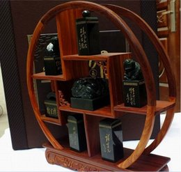 High-grade collection symbol of hetian jade jade China chairman MAO most decree seven stacked seal kit business gifts
