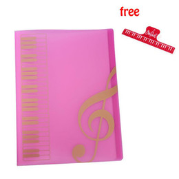 Best Selling Pink Pockets Music Sheet File Folder Music Sheet Holder Plastic A4 Size 40 Pockets - Pink