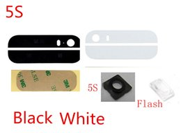 100% High Quality for iPhone 5 5S SE Top Bottom Rear Back Cover Glass & Adhesive & Camera Lens & Flash Diffuser Not Assembled (412IP)