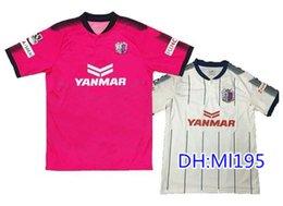 2017 J. Liga Urawa Cerezo Osaka casa rosa lejos blanco camiseta de fútbol camiseta tailandesa de fútbol camiseta 17 / 18Maillot De Foot Fútbol camisas desde camisetas de fútbol de color rosa fabricantes