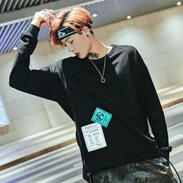 Free Shipping US Size M-2XL High Quality Autumn and Winter Models Men's Original Hip-hop High Street Wide Collar Long Sleeve Sweater