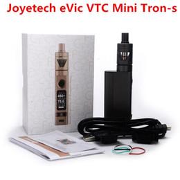 Evic vtc en Línea-1pcs Joyetech eVic VTC Mini con Tron-s 75W Atomizer Kit Firmware Upgradeable Evic VTC Mini 75W Caja Mod con 4,0ml TRON
