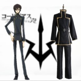 Lelouch Lamperouge cosplay costumes Japanese anime CODE GEASS Lelouch of the Rebellion clothing Masquerade Mardi Gras Carnival costumes