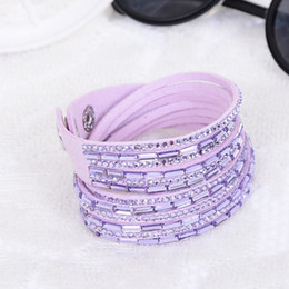 Our company provide necklace bracelet Leather Bracelet is studded with diamonds Rectangular resin double ring Jewelry