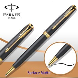 9 Colors Parker Sonnet Series Ballpoint Pen Silver   Golden Clip Parker Ball point Pen Refill for Business Writing Office Supplies