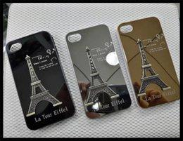 Wholesale Skin For Iphone Paris - 3D Stereo La Tour Eiffel Tower Paris Design Aluminum Alloy Metal Case Fashion Hard Cover Skin For iPhone 5 5S iPhone 6 Plus